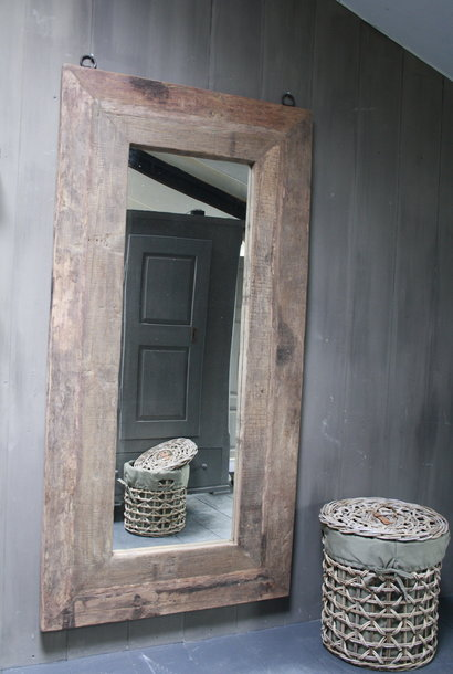 *Uitverkocht Spiegel oud hout 100 x 200 cm Bassano