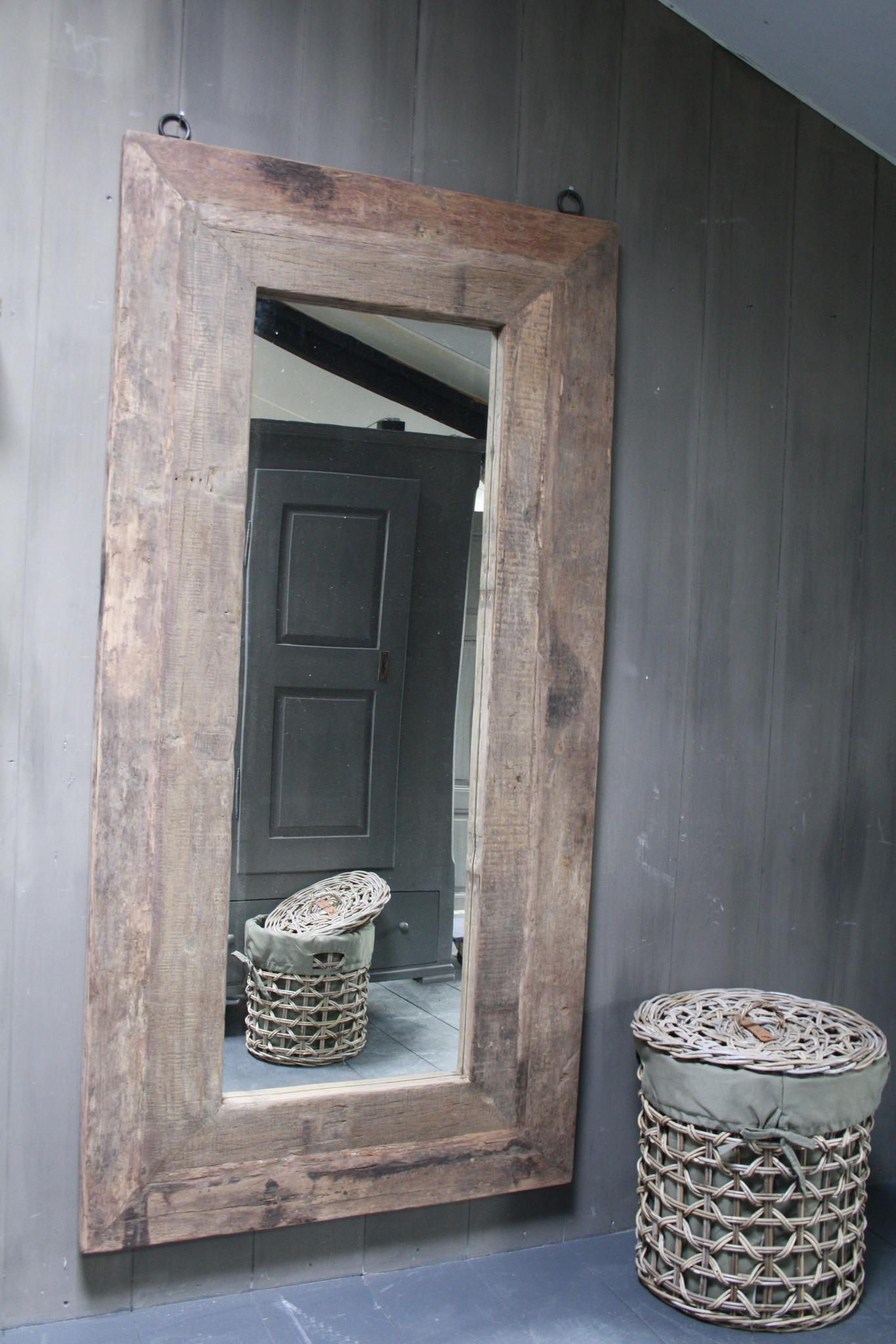 Spiegel oud hout 100 x 200 cm Bassano-1