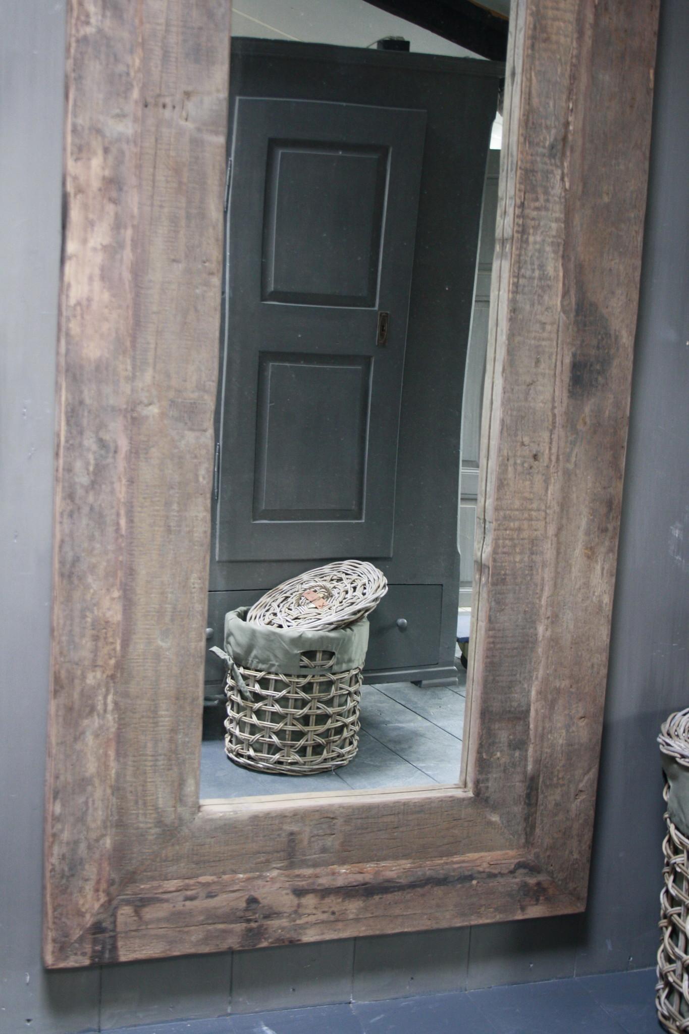 Spiegel oud hout 100 x 200 cm Bassano-2