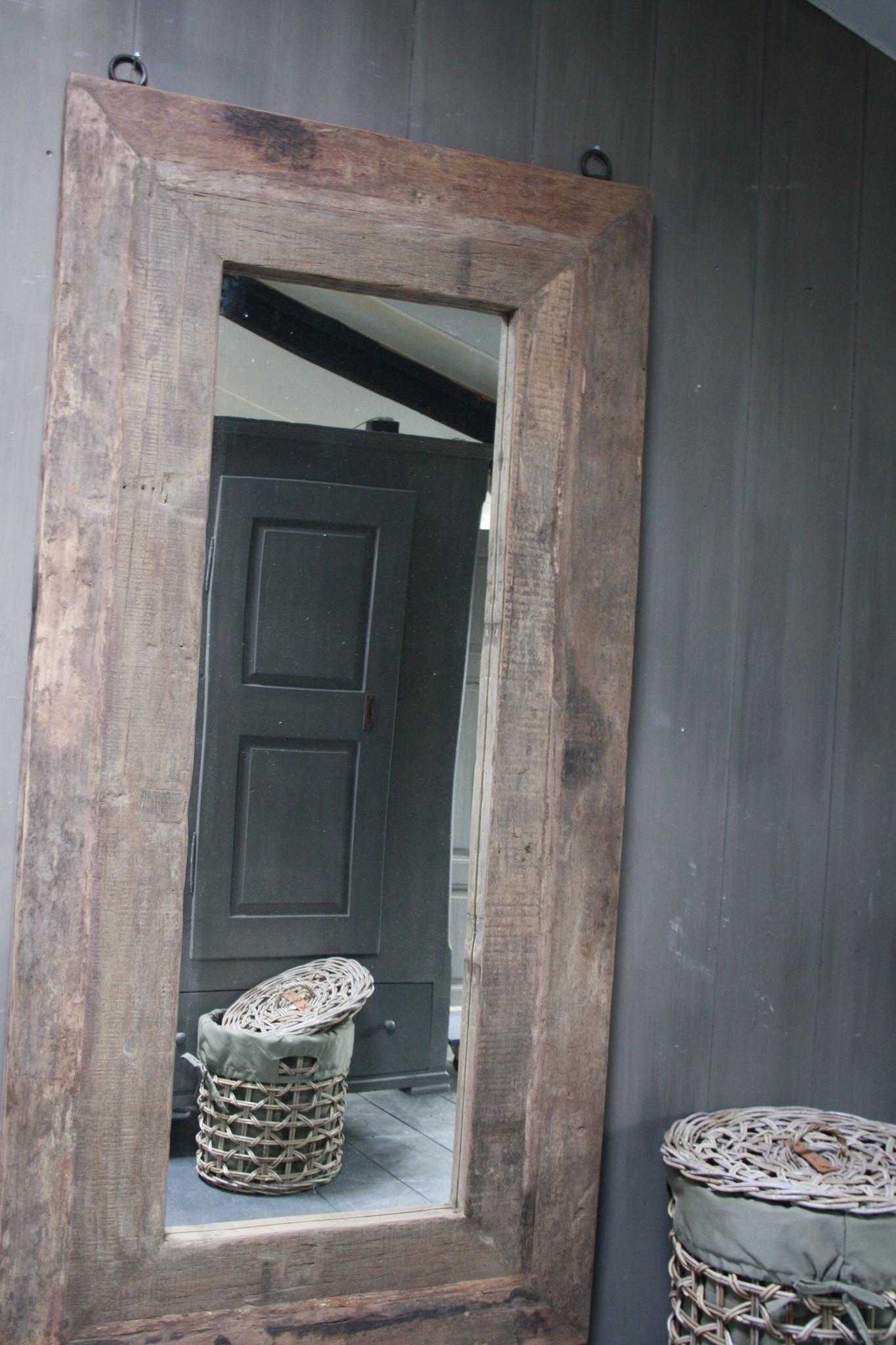 Spiegel oud hout 100 x 200 cm Bassano-3