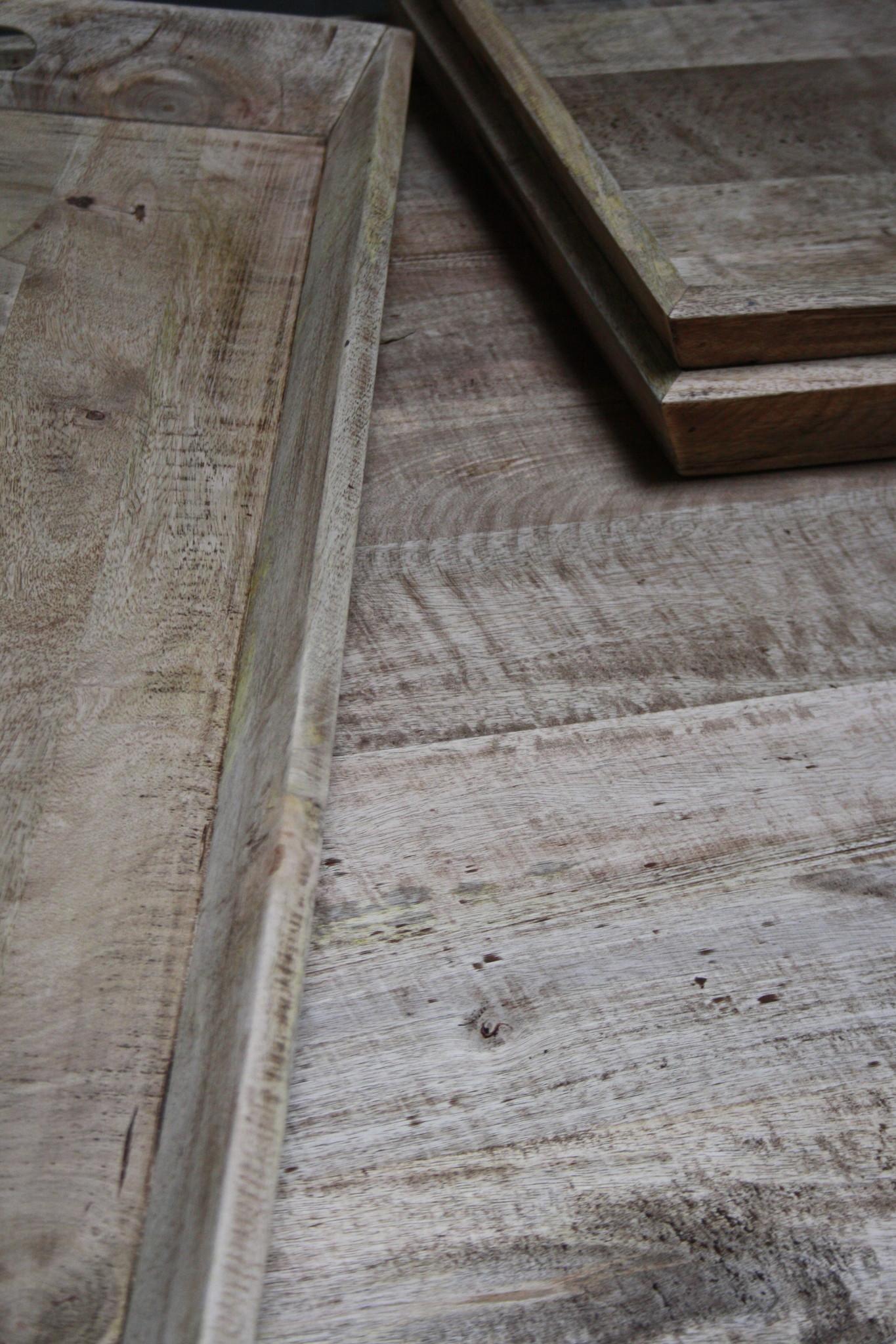 Salontafel met dienbladen 100 x 100 x 50 cm-8