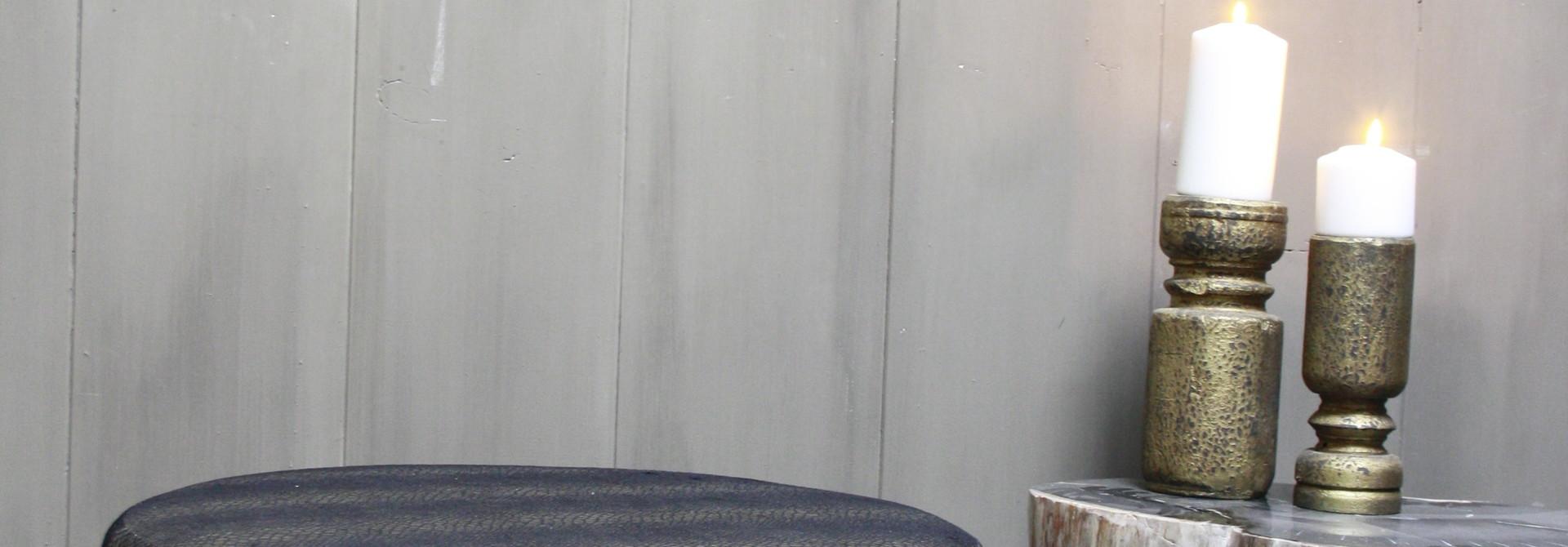 Hocker Marlijn Slangenprint 65 x 45 cm