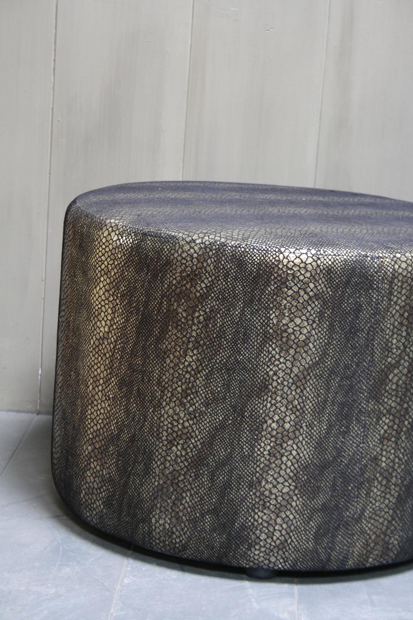 Hocker Marlijn Slangenprint 65 x 45 cm-3