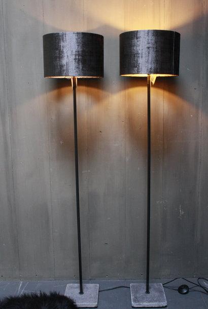 Vloerlamp 120 cm velvet robbs/taupe