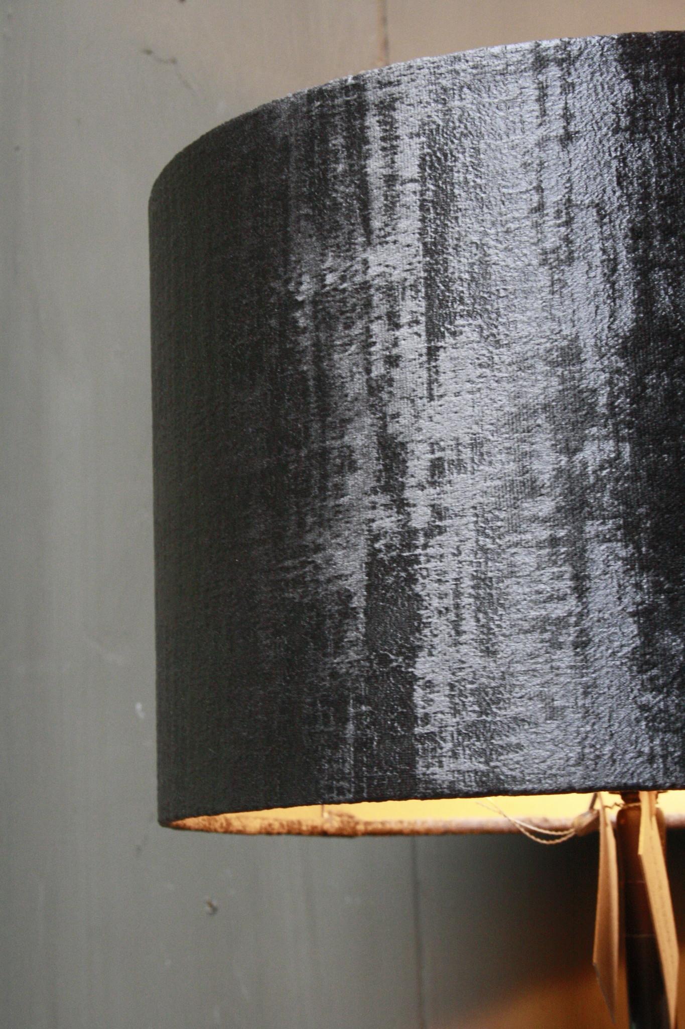 Vloerlamp 120 cm velvet robbs/taupe + natuurstenen voet-5