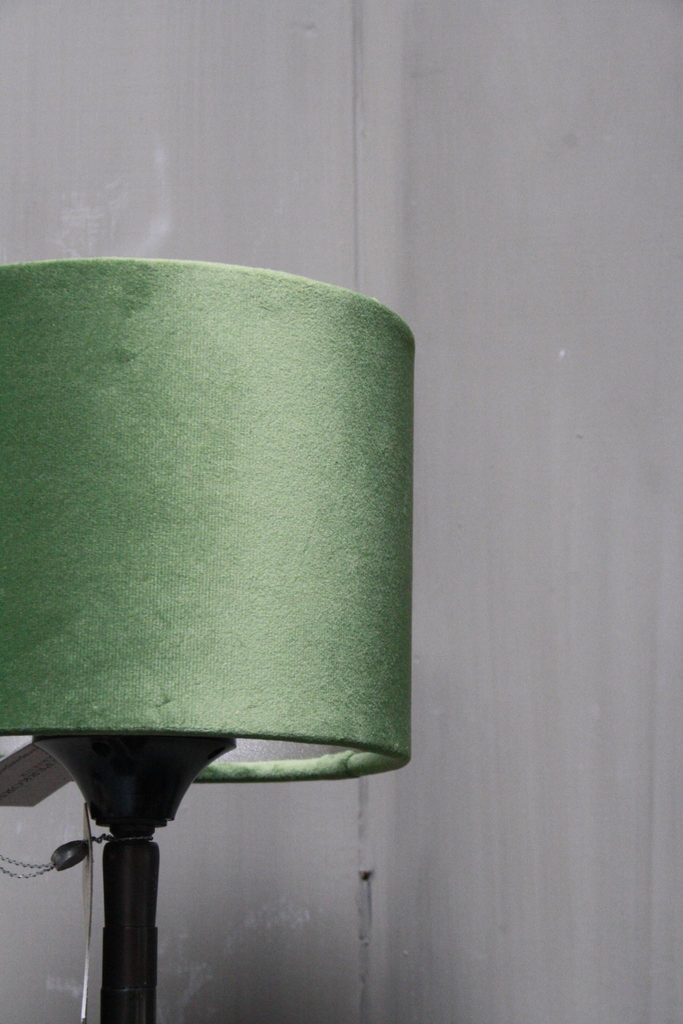 Vloerlamp 120 cm velvet fluweel groen + natuurstenen voet-3