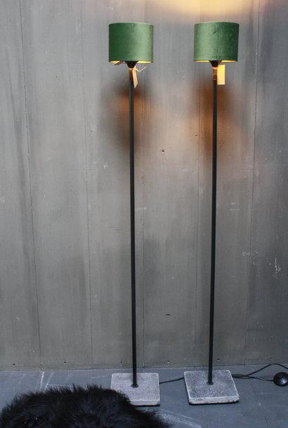 Vloerlamp 120 cm velvet fluweel groen