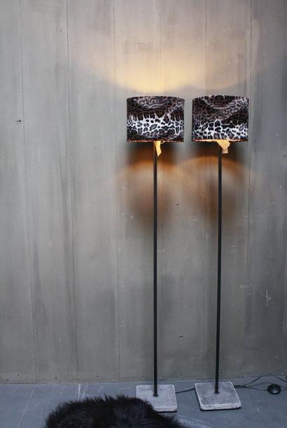 Vloerlamp 120 cm velvet luipaard/panterprint