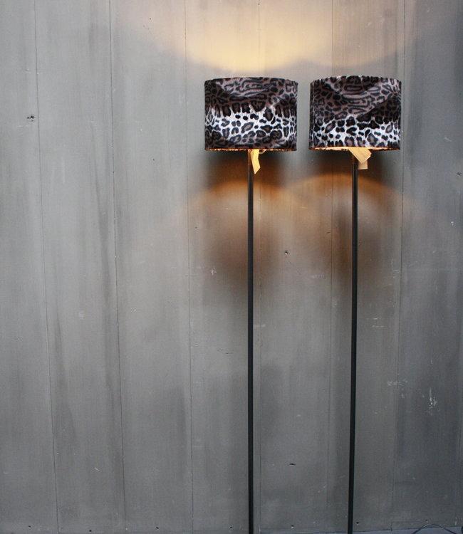 Aura Peeperkorn Vloerlamp 120 cm velvet luipaard/panterprint