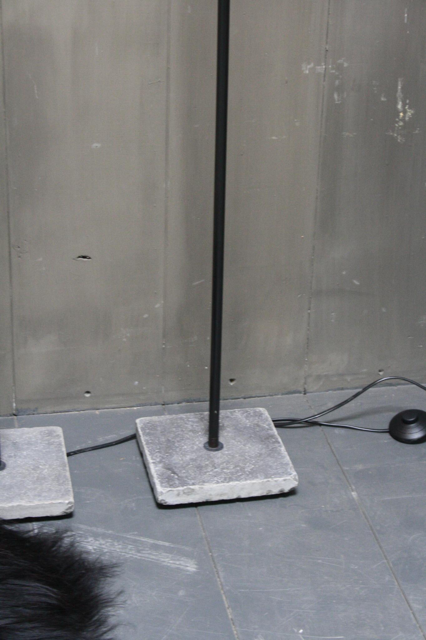 Vloerlamp 120 cm velvet luipaard/panterprint + natuurstenen voet-5