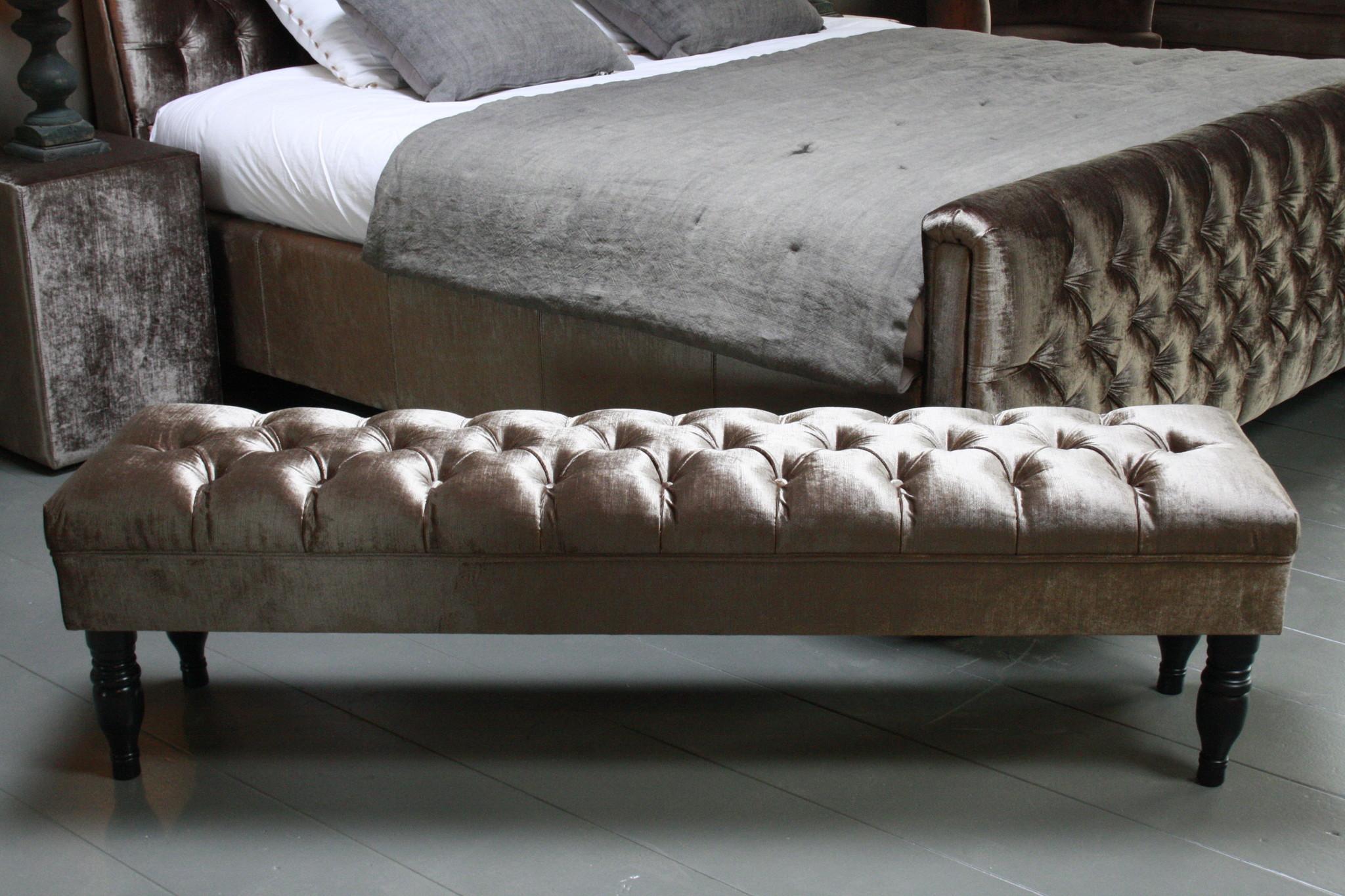 Bedbankje Gecapitonneerd 160 x 40 x 47 cm-3
