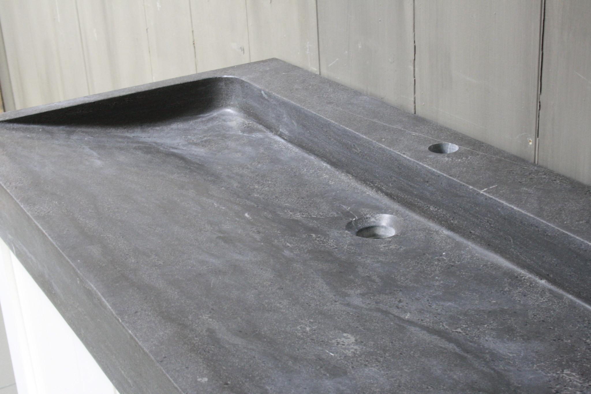 Limbana Natuursteen Meubelwastafel 100 cm 1 kraangat-5