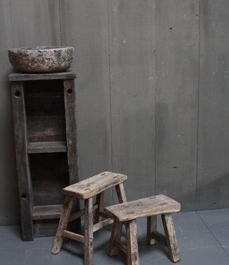Rene Houtman Uniek oud houten wc krukjes - Verschillende maten
