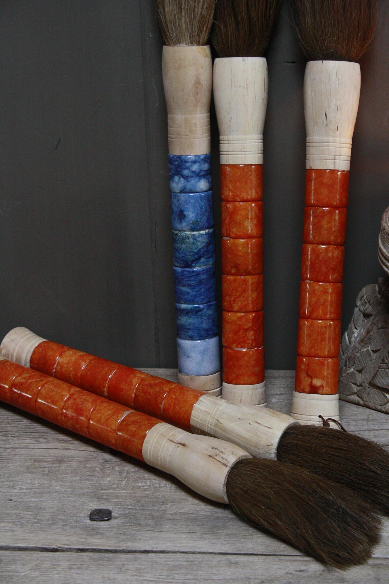 Originele Aziatische Kalligrafeerkwast Oranje-4