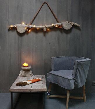 Rene Houtman Hanglamp houten ornament met verlichting
