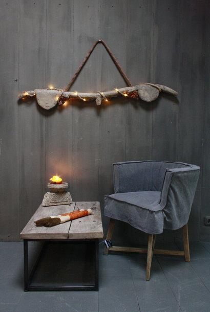 Hanglamp houten ornament met verlichting
