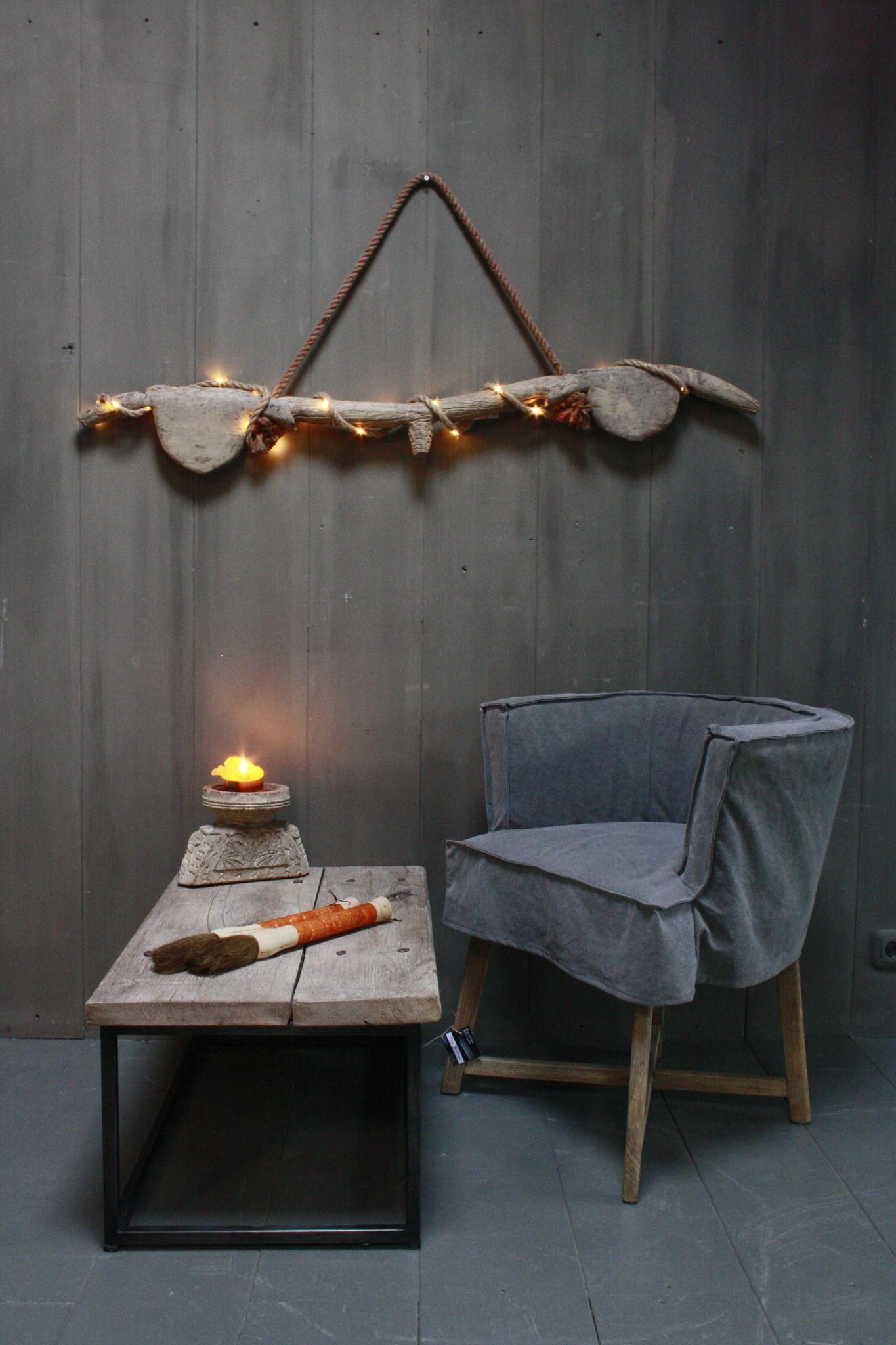 Hanglamp houten ornament met verlichting-1
