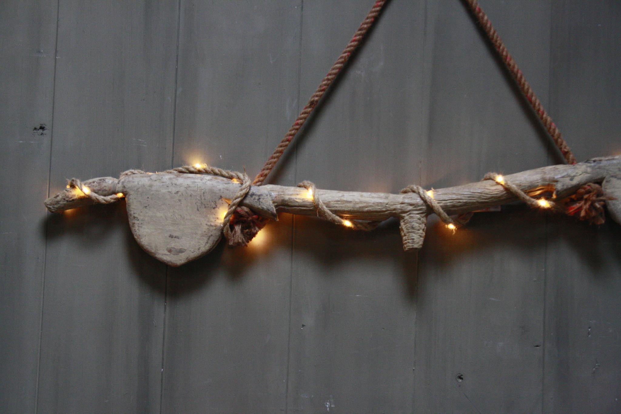 Hanglamp houten ornament met verlichting-4