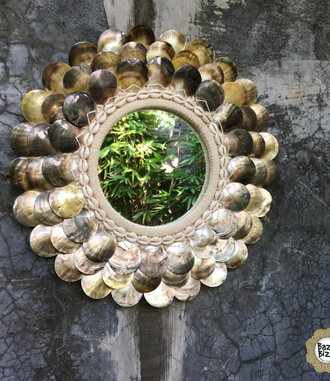 Bazar Bizar De Coin Spiegel - Natural Brown - M