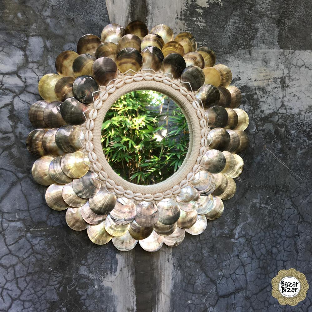 De Coin Spiegel - Natural Brown - M-1
