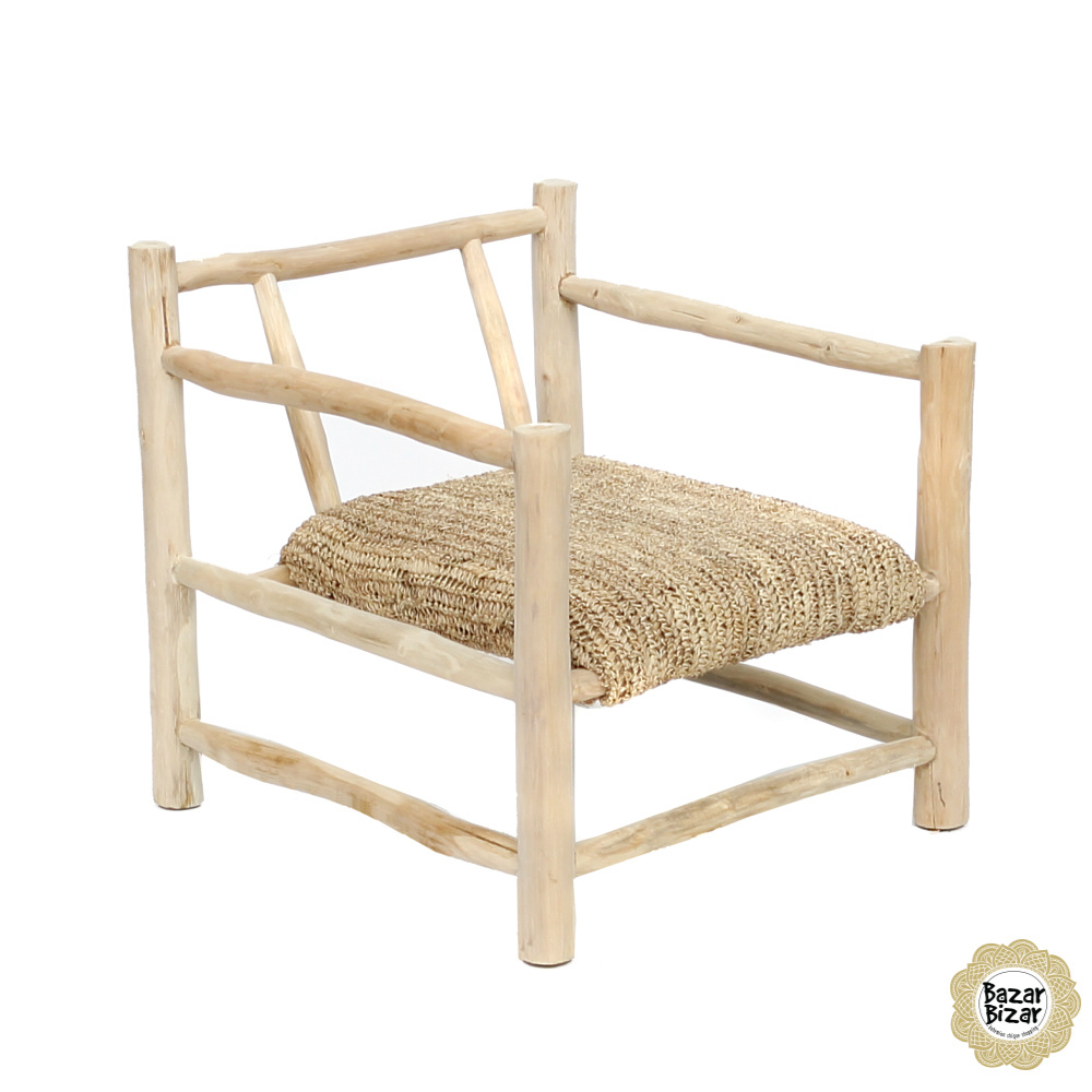 Raffia One Seater - Natural-5