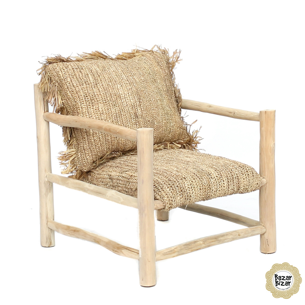 Raffia One Seater - Natural-6