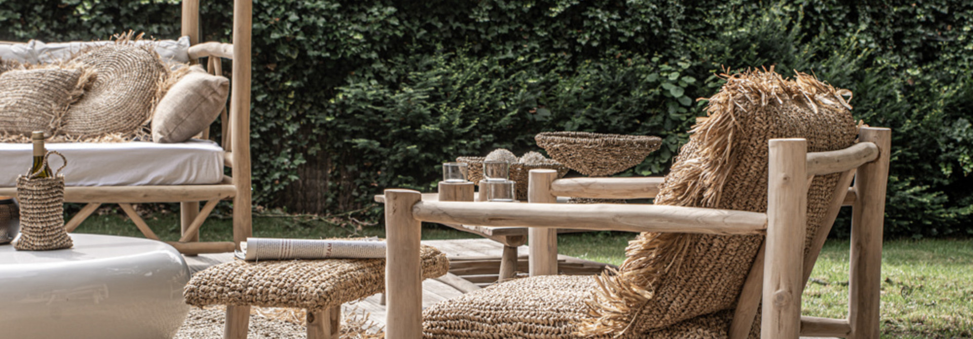 Raffia One Seater - Natural