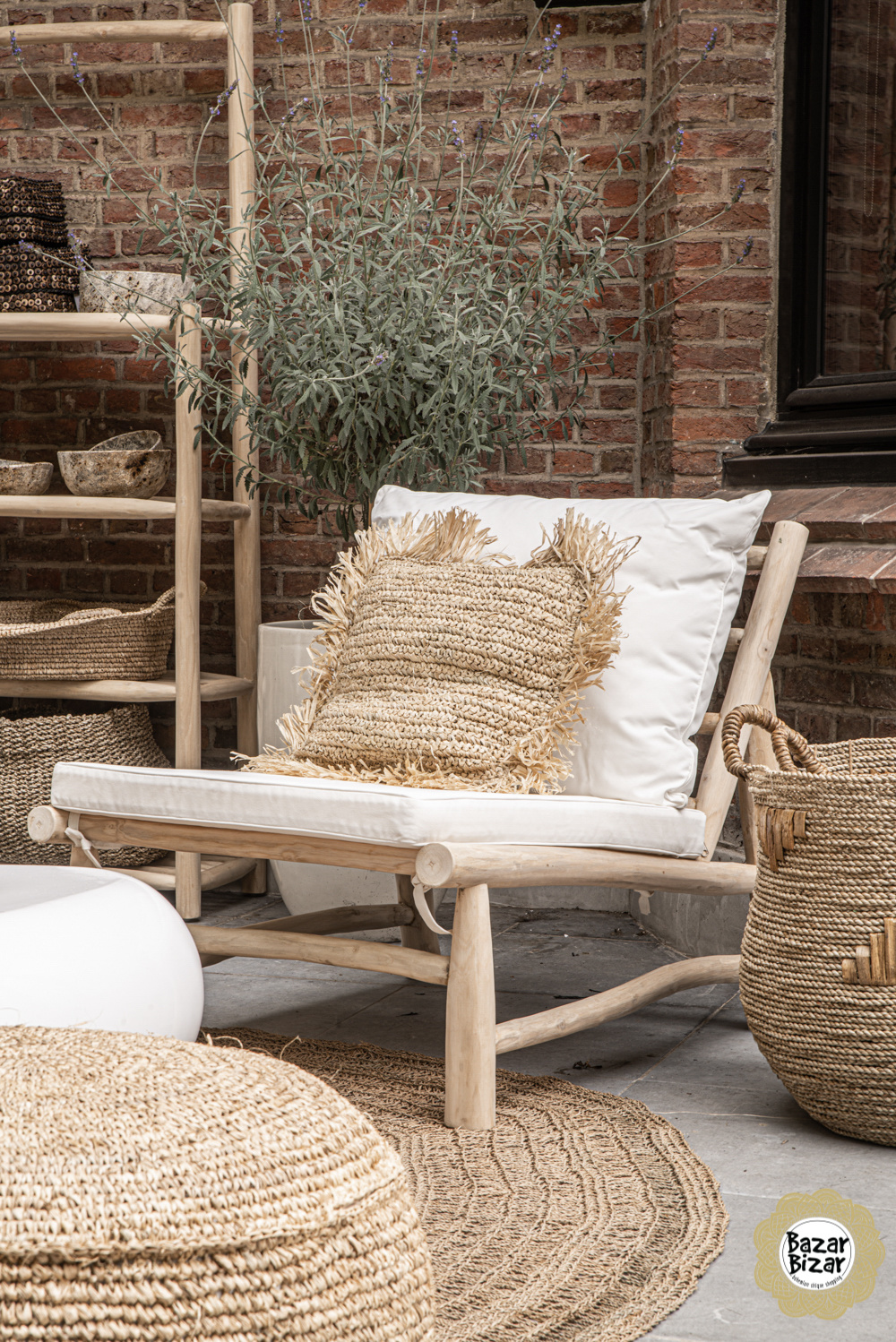 Island One Seater - Natural White-1