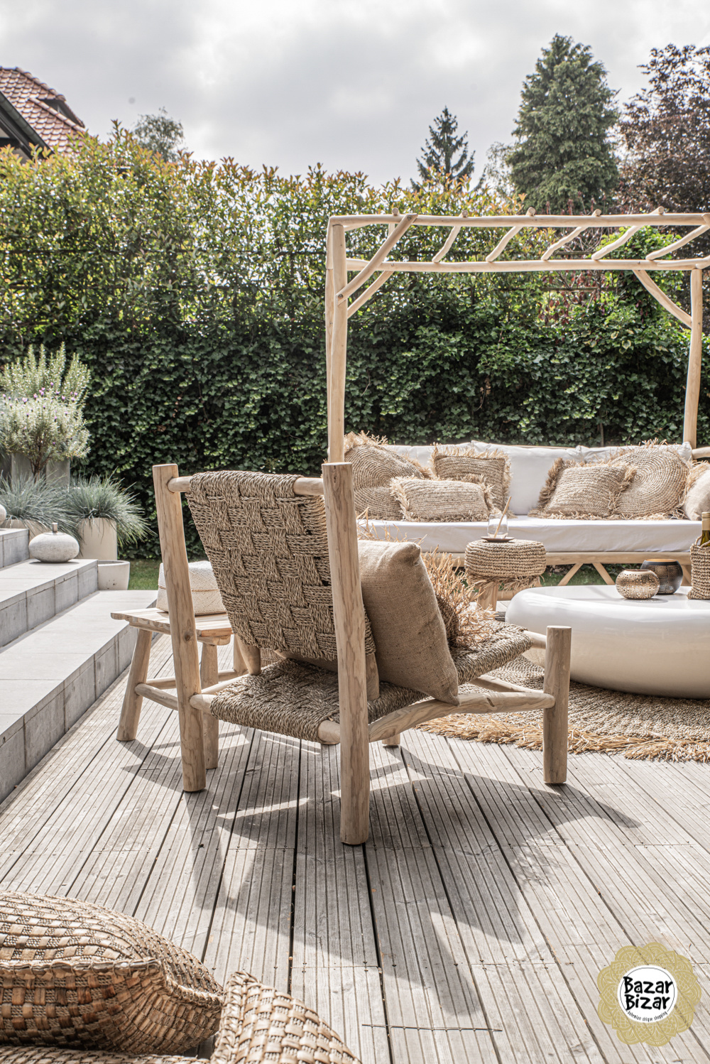 The Seagrass One Seater - Natural-1