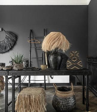 Bazar Bizar Abaca Tafellamp - Black Natural - 47 cm