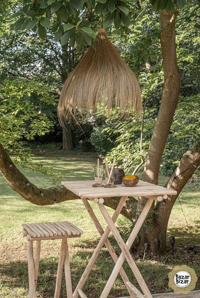 Rayung Hanglamp Gras - Natural - L - 85 cm