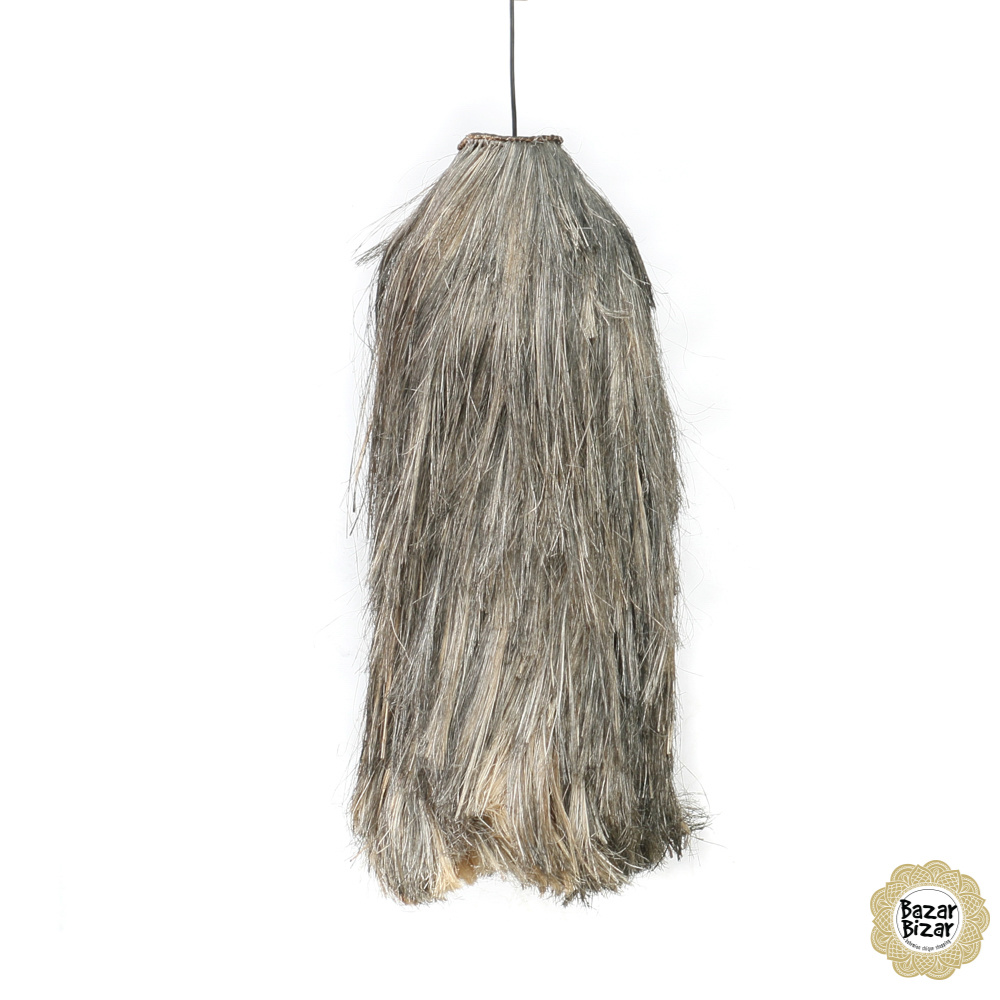 Abaca Hanglamp - Natural Black - L - 75 cm-4