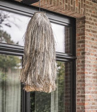 Bazar Bizar Abaca Hanglamp - Natural Black - L - 75 cm