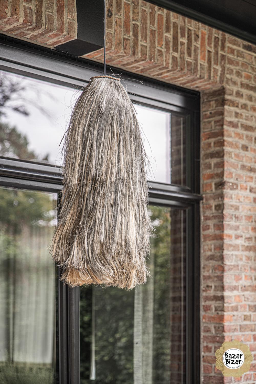 Abaca Hanglamp - Natural Black - L - 75 cm-1