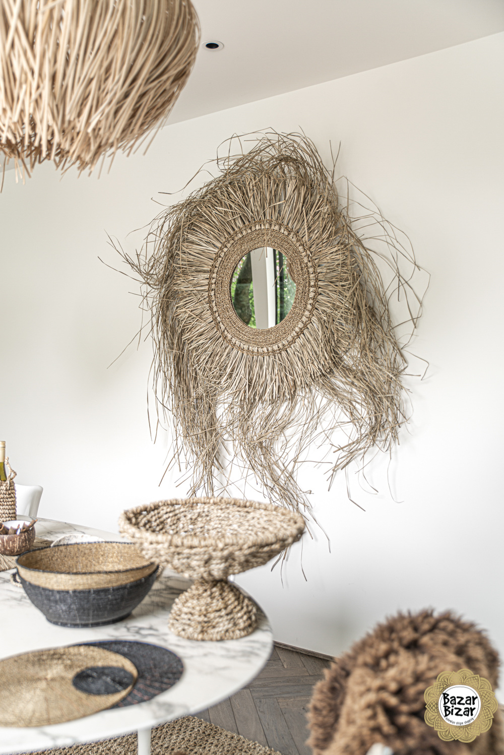 The See Grazz Mirror - Natural - 150 cm-3