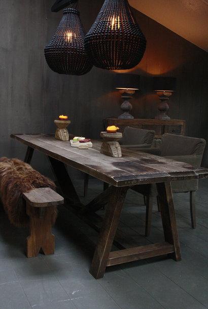 Berrien Oud Houten Eettafel/tuintafel Wagondelen 270 cm