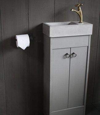 Rene Houtman Landelijk toiletmeubel + fontein light grey 90 x 38 cm
