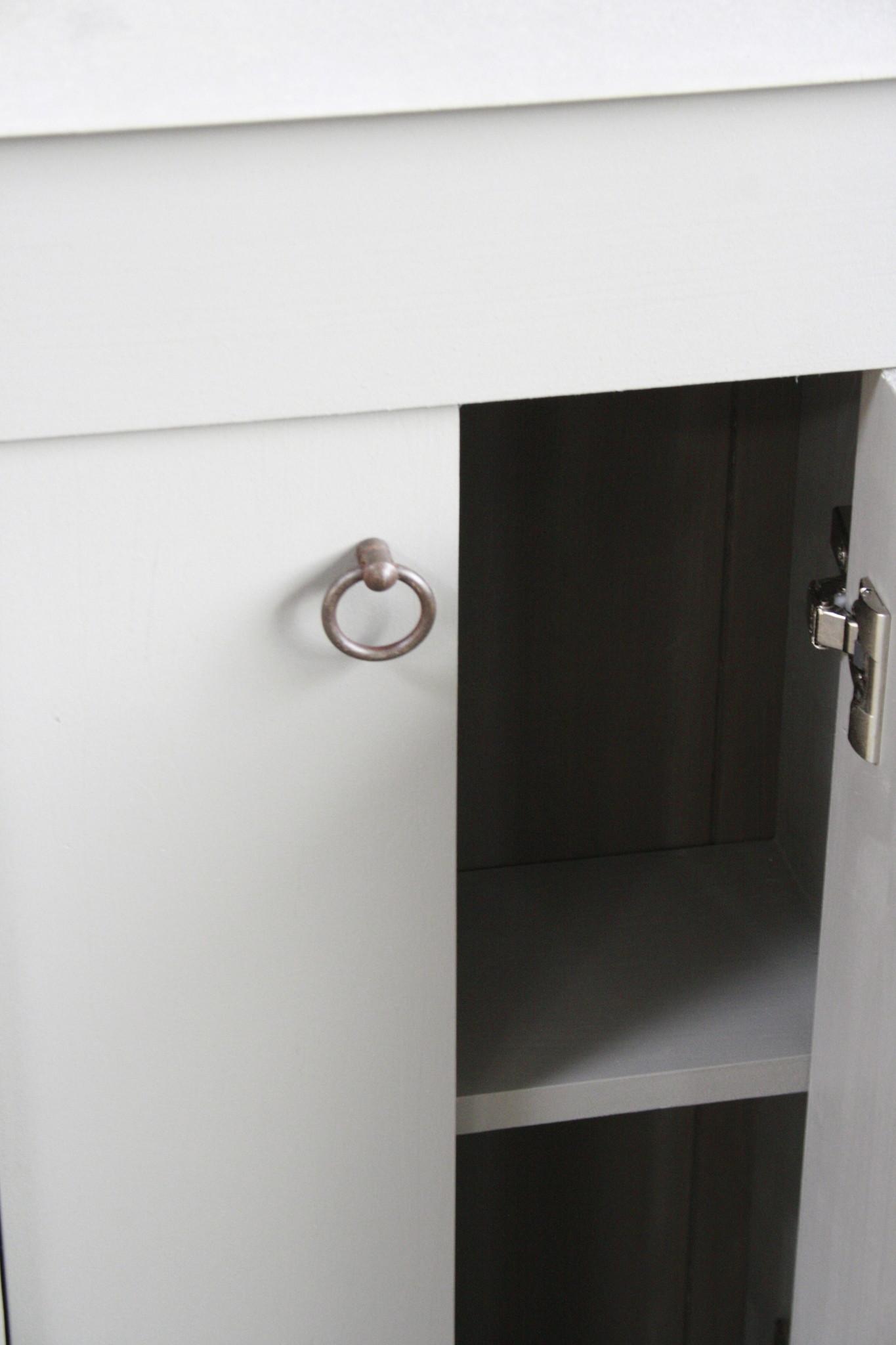 Landelijk toiletmeubel + fontein light grey 90 x 38 cm-6