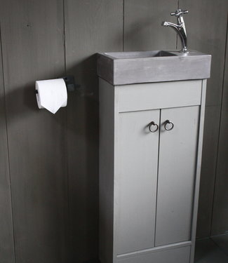 Rene Houtman Landelijk toiletmeubel + fontein dark grey 90 x 38 cm