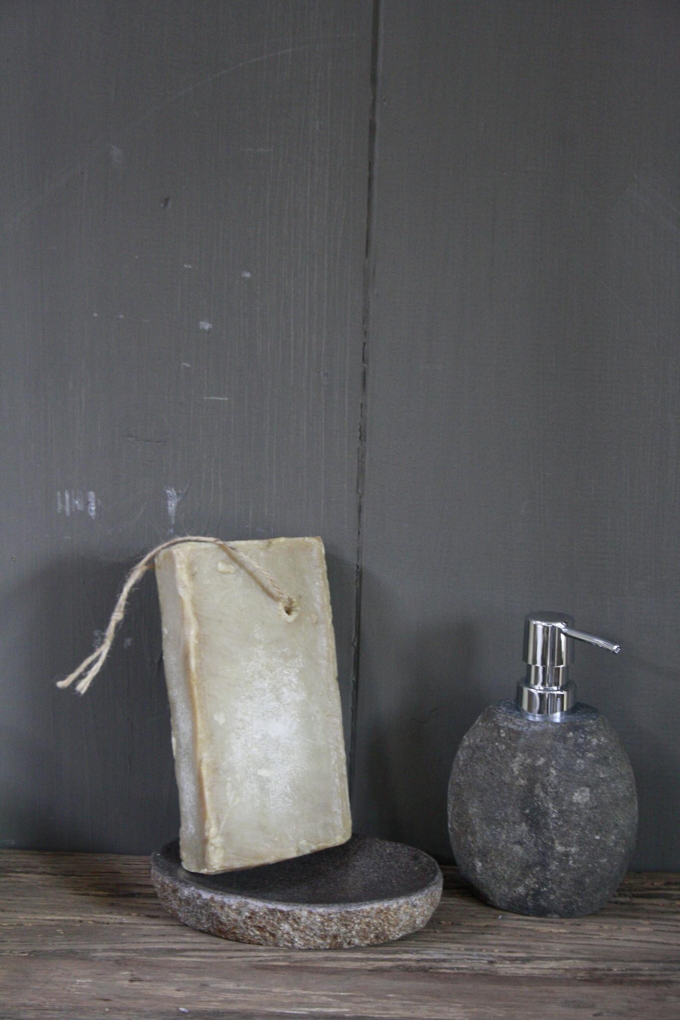Bad Zeepdispenser natuursteen 17 x 11 cm-5
