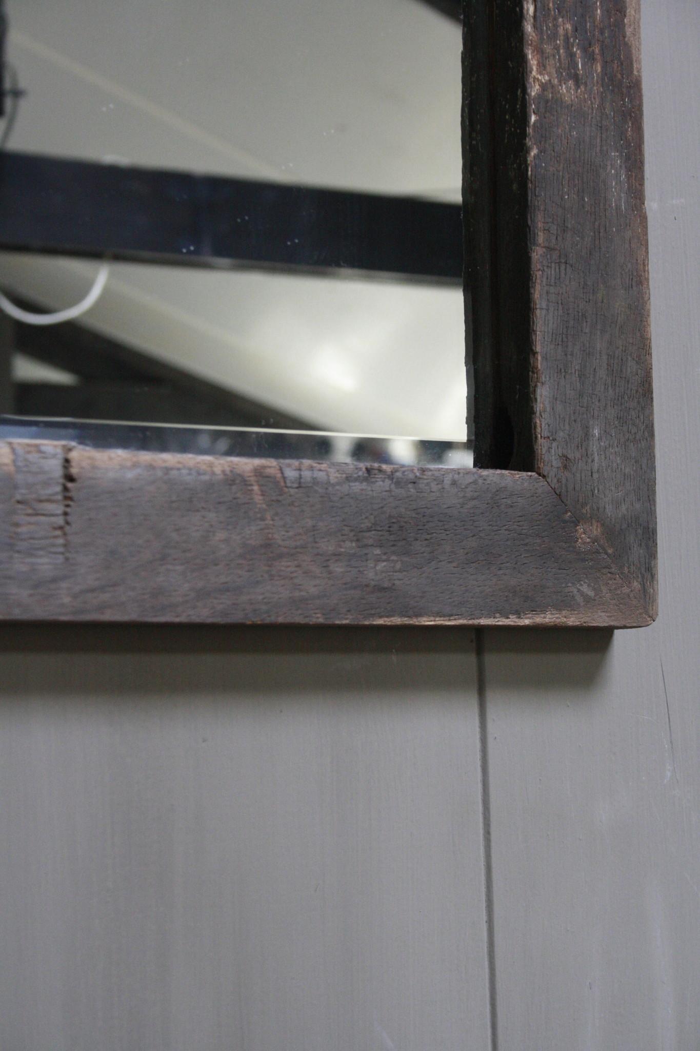 Eikenhouten toiletspiegel Dark 53 x 38 cm-3