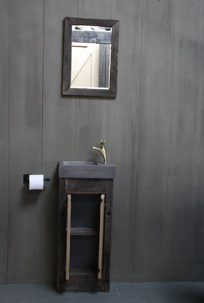 Eikenhouten toiletspiegel Dark 53 x 38 cm