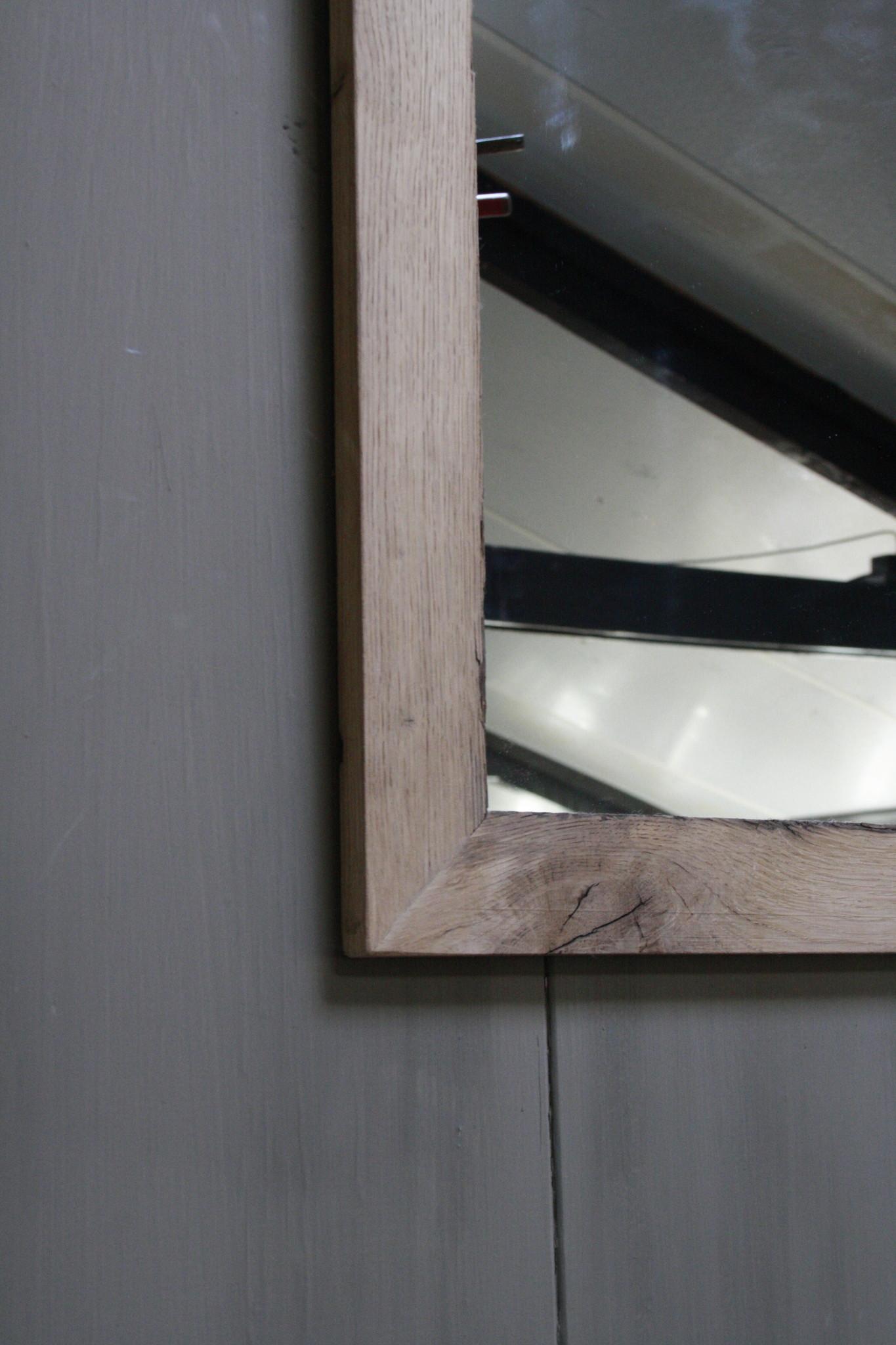 Eikenhouten toiletspiegel Light 53 x 38 cm-4