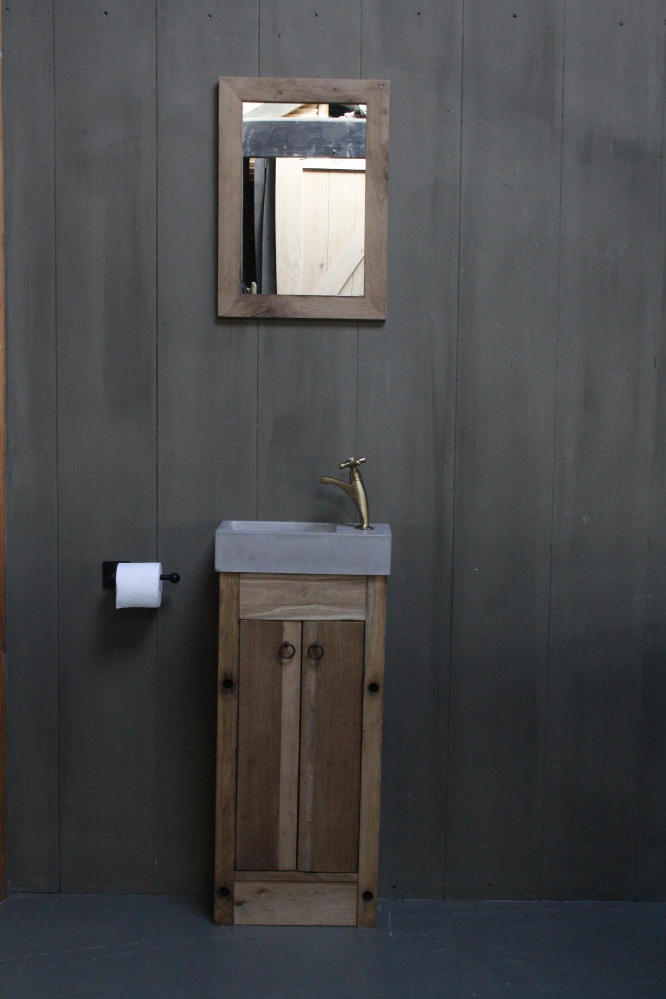 Eikenhouten toiletspiegel Light 53 x 38 cm-1