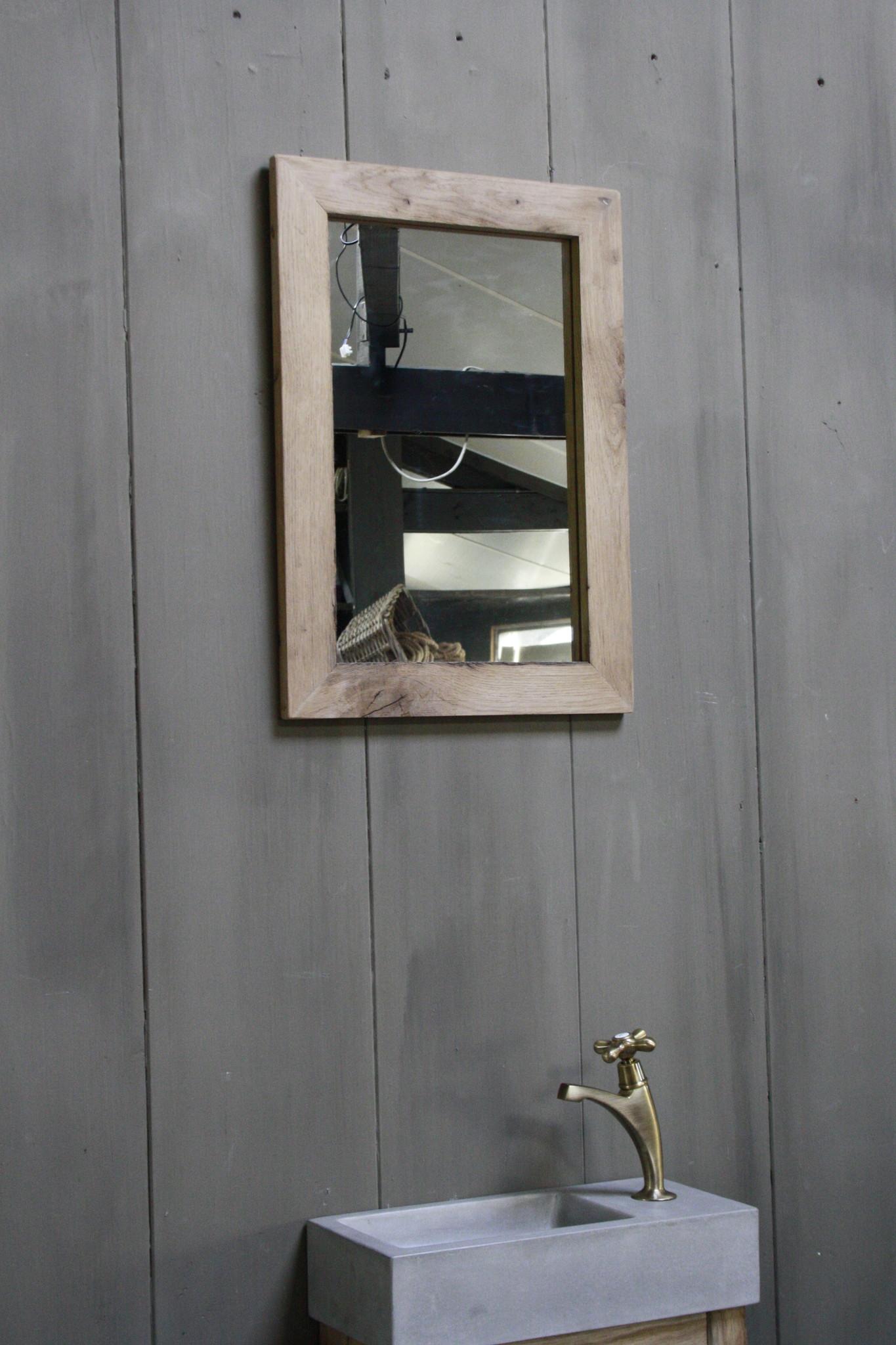 Eikenhouten toiletspiegel Light 53 x 38 cm-3