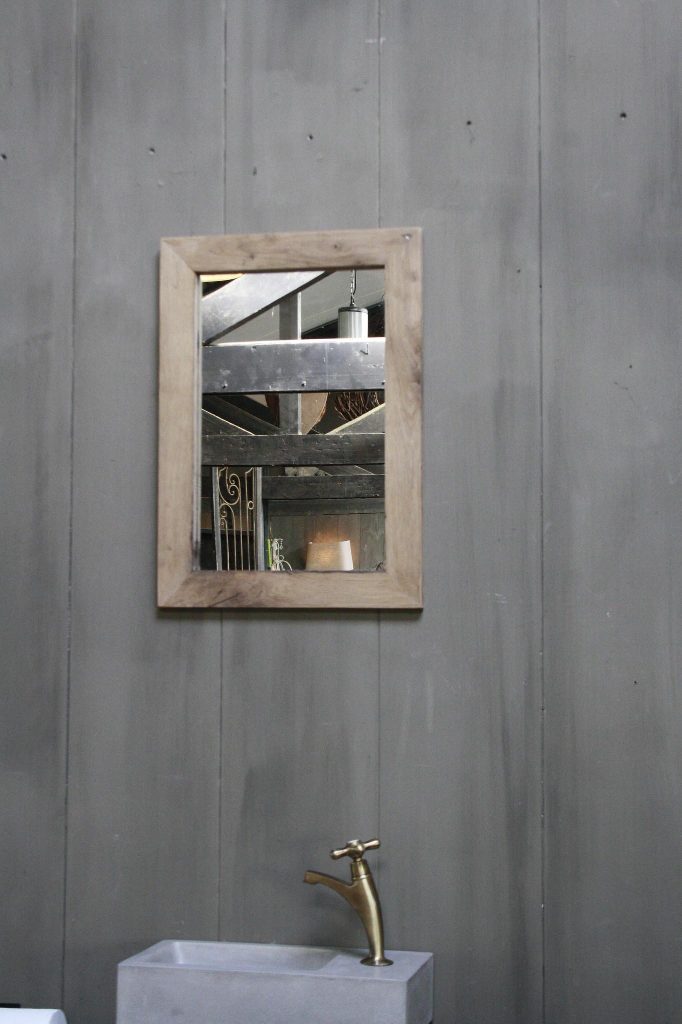 Eikenhouten toiletspiegel Light 53 x 38 cm-2