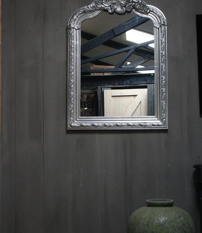 Rene Houtman Kuifspiegel Barok Roma Zilver 117 x 80 cm