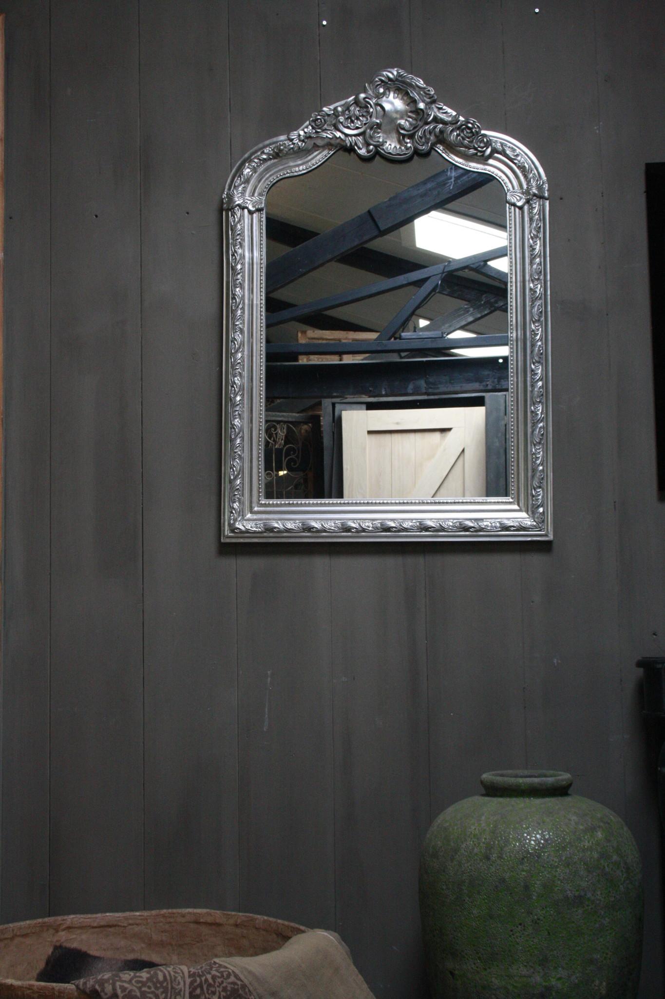 Kuifspiegel Barok Roma Zilver 117 x 80 cm-1