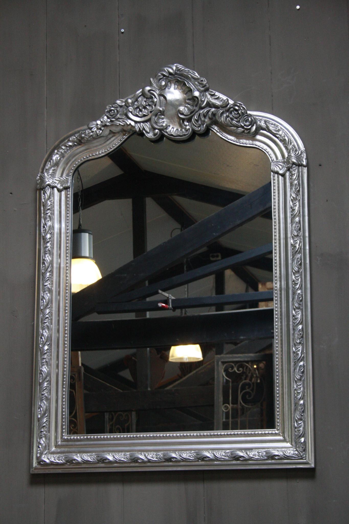 Kuifspiegel Barok Roma Zilver 117 x 80 cm-2