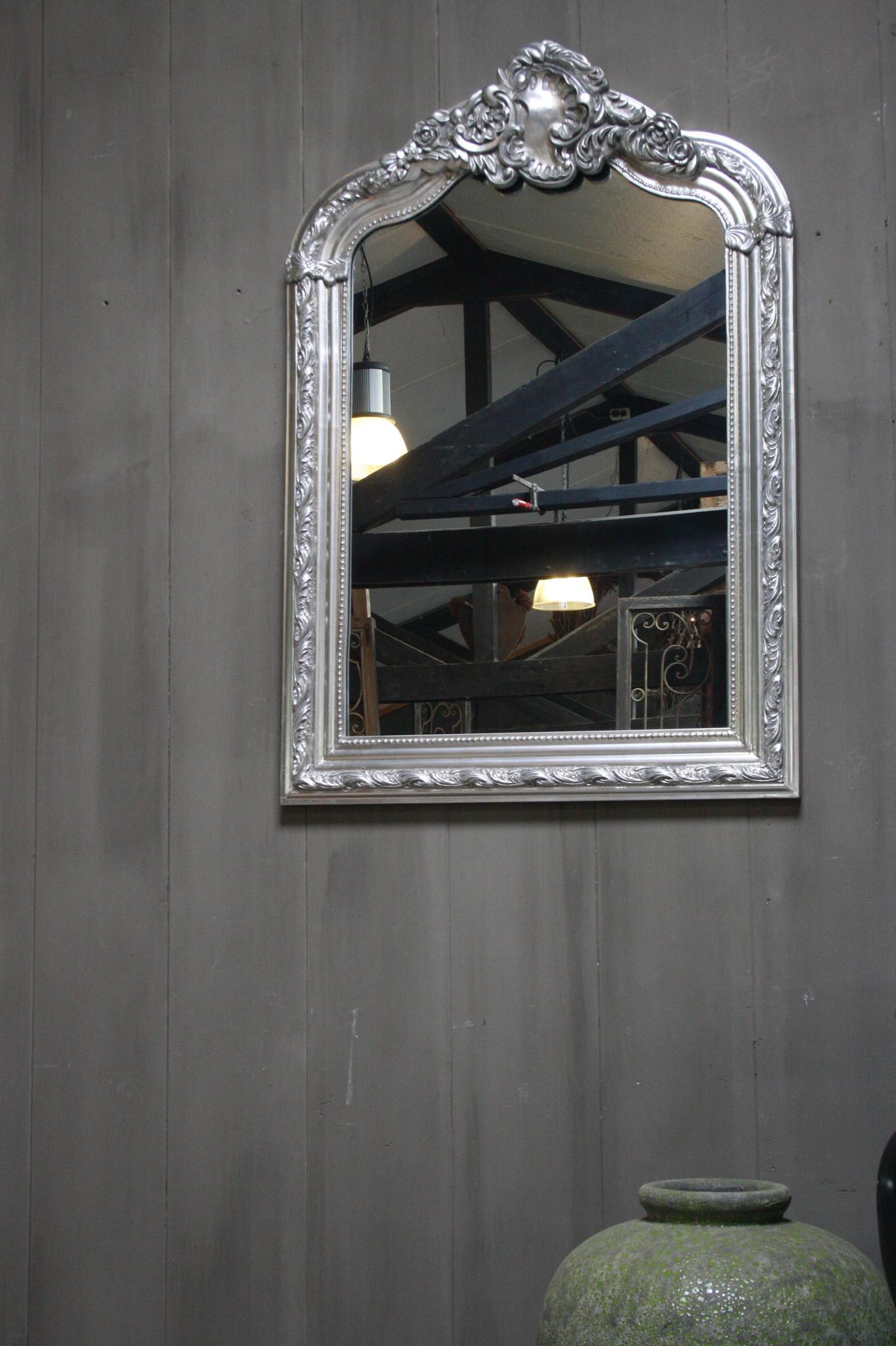 Kuifspiegel Barok Roma Zilver 117 x 80 cm-4